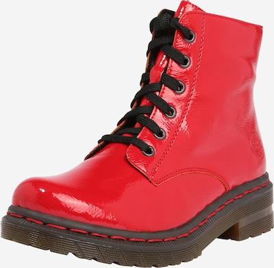 RIEKER Bottines à lacets en rouge, Vue avec produit