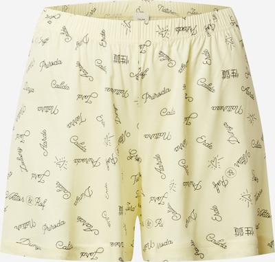 CALIDA Pantalon de pyjama 'Viktor & Rolf' en citron / jaune pastel / noir, Vue avec produit