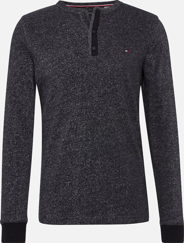 Henley Sleeve' Long 'plaited Tommy Langarmshirt Graumeliert Hilfiger zqwTZF8xP