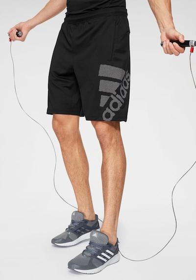 ADIDAS PERFORMANCE Kraft Shorts kurze Sporthose in schwarz: Frontalansicht