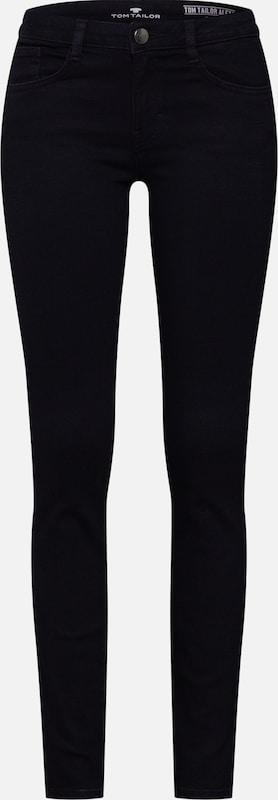 'alexa Denim Tom Tailor Jean Noir Slim Long 1 En 1' lKuFJcT153