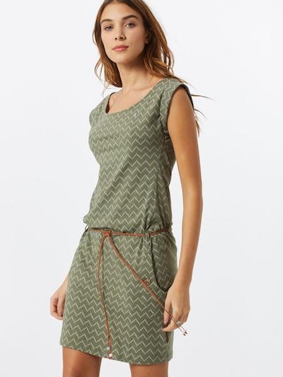 Ragwear Kleid 'TAG ZIG ZAG' in oliv / dunkelgrün / offwhite, Modelansicht