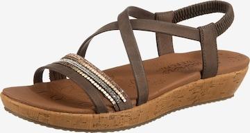 SKECHERS Sandale in Braun
