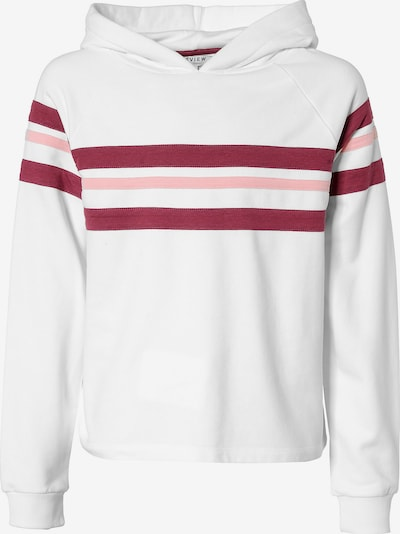 REVIEW FOR TEENS Sweatshirt in rosa / weinrot / weiß, Produktansicht