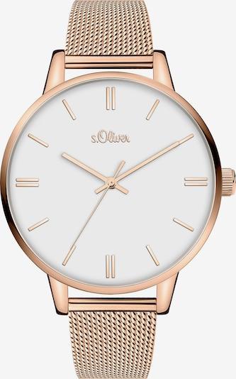 s.Oliver Uhr in rosegold / weiß, Produktansicht