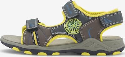 TOM TAILOR Sandalen in gelb / oliv, Produktansicht