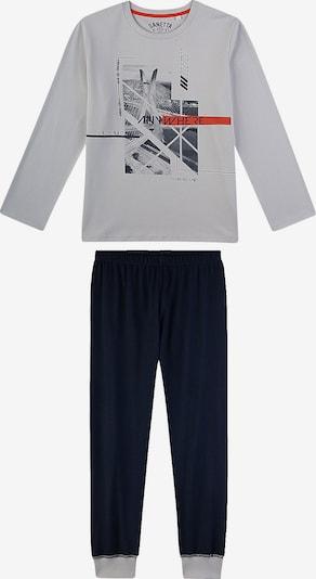 SANETTA Schlafanzug in anthrazit / graphit / graumeliert / grenadine, Produktansicht