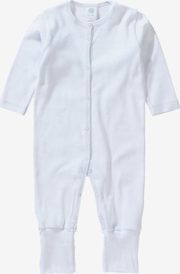 SANETTA Baby Schlafanzug für Jungen in weiß / naturweiß: Frontalansicht