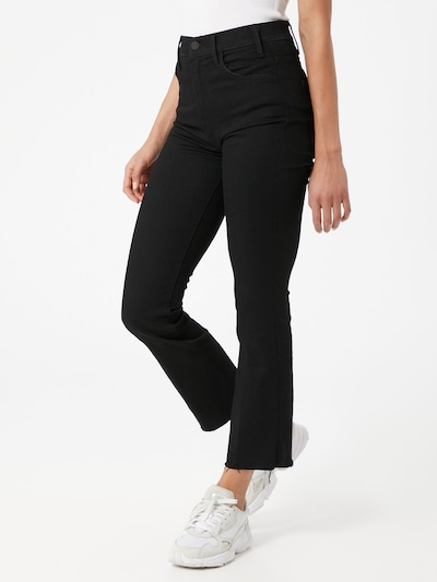 MOTHER Jeans 'The Hustler' in black denim, Modelansicht