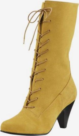 heine Schnürstiefel in gelb, Produktansicht
