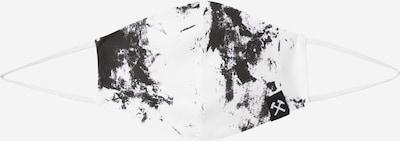 Grubenhelden Stoffmaske 'Kohleoptik' in weiß, Produktansicht
