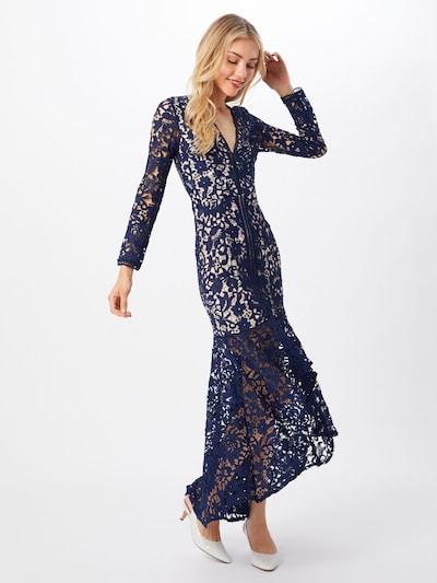 Love Triangle Společenské šaty 'LOVE BIRD DRESS' - modrá / bílá, Model/ka