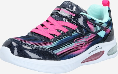 SKECHERS Sneaker in blau / kobaltblau / pastellgrün / pink, Produktansicht