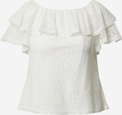 Dorothy Perkins Shirt 'Ivory lace ruffle bardot top' in weiß, Produktansicht