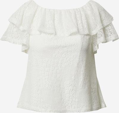 Dorothy Perkins T-shirt 'Ivory lace ruffle bardot top' en blanc, Vue avec produit