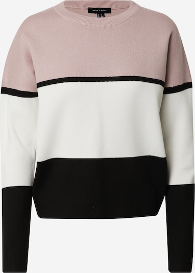 NEW LOOK Pullover 'ROBIN' in rosa / schwarz / weiß, Produktansicht