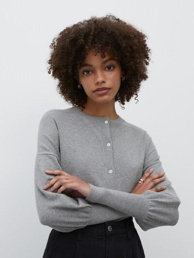 Geacă tricotată 'Sarina' EDITED pe gri, Vizualizare model