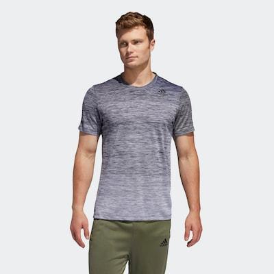 ADIDAS PERFORMANCE T-Shirt in graumeliert / schwarzmeliert: Frontalansicht