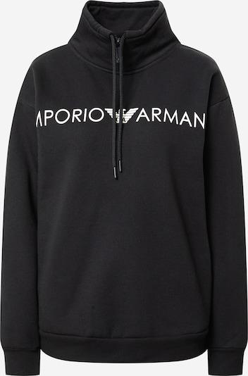 Bluză de molton Emporio Armani pe negru / alb, Vizualizare produs