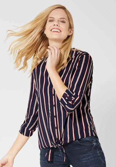 CECIL Bluse in dunkelblau / rot / weiß, Modelansicht