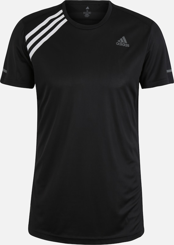 ADIDAS PERFORMANCE T-Shirt  'Own The Run' in schwarz / weiß, Produktansicht