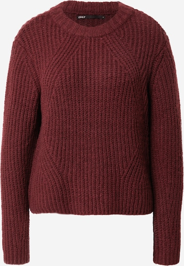 ONLY Pullover 'Fiona' in bordeaux, Produktansicht
