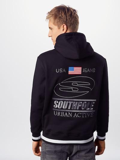 SOUTHPOLE Sweatshirt 'Urban Active' in de kleur Zwart / Wit: Achteraanzicht