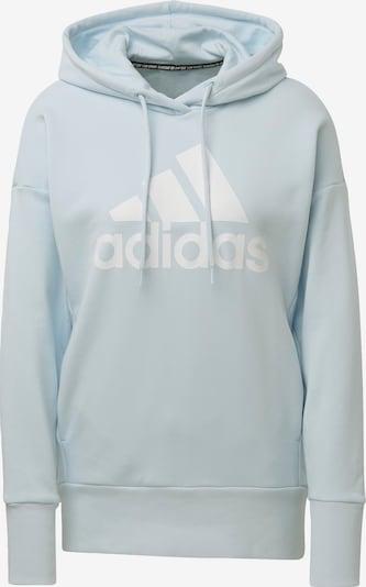 ADIDAS PERFORMANCE Sweatshirt in hellblau / weiß: Frontalansicht