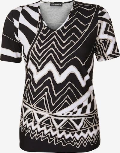 Doris Streich Shirt mit geometrischem Muster in schwarz / weiß, Produktansicht