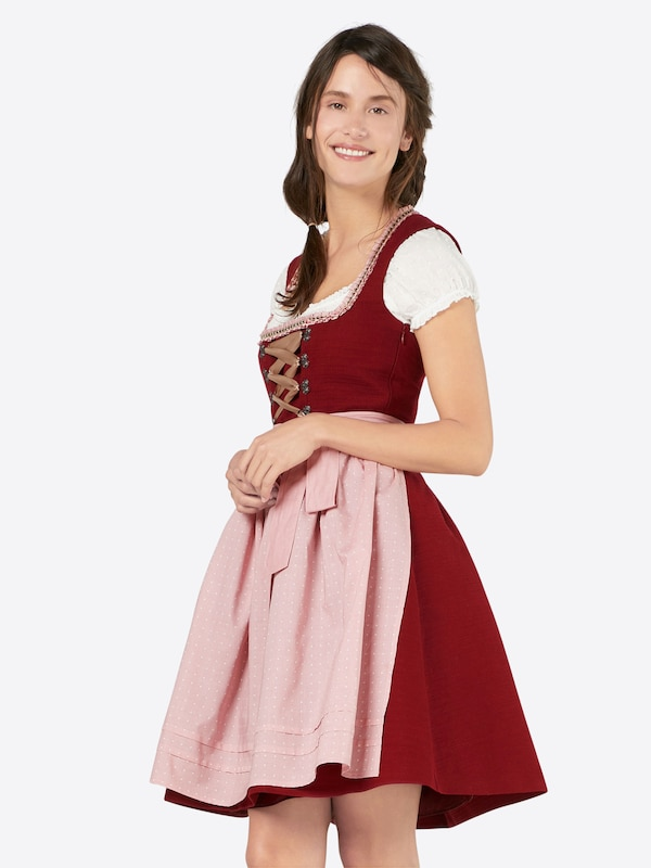 esprit collection dirndl 39 structuredwiesn 39 in rood about you. Black Bedroom Furniture Sets. Home Design Ideas