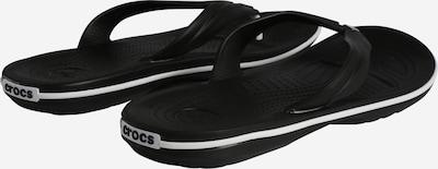 Crocs Zehentrenner 'Crocband Flip M' in schwarz / weiß: Rückansicht