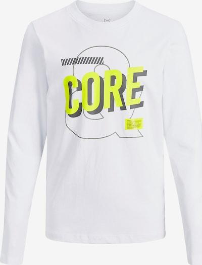 Jack & Jones Junior Langarmshirt 'Cobeb' in gelb / weiß, Produktansicht