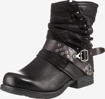 Laufsteg München Biker Boots in schwarz, Produktansicht