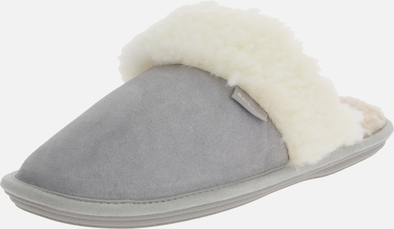 Barbour Slipper 'Barbour Lydia Mule' in hellgrau / weiß, Produktansicht