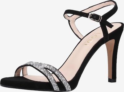 Lodi Sandalen in schwarz / silber, Produktansicht