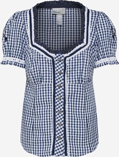 MARJO Bluse 'Brenda Edina' in dunkelblau / weiß, Produktansicht