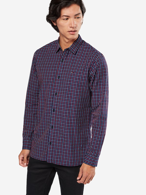 Tommy Jeans Karo-Hemd mit Kent-Kragen