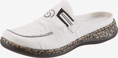 RIEKER Clogs in de kleur Zwart / Wit, Productweergave