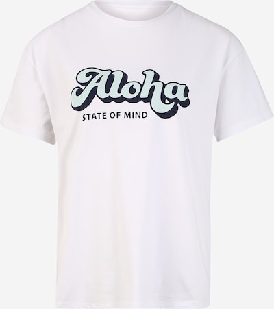 Hey Honey Functioneel shirt 'Aloha' in de kleur Turquoise / Zwart / Wit, Productweergave