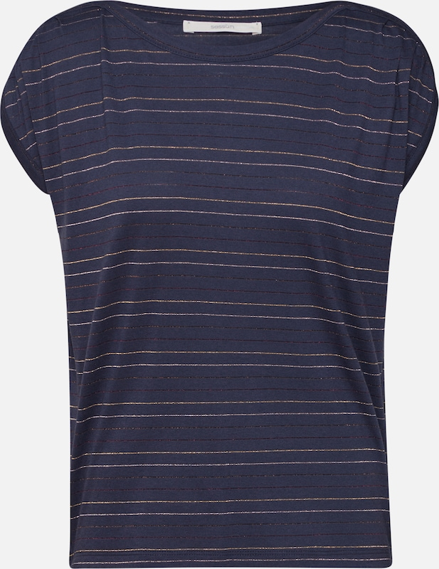 sessun Shirt in de kleur Navy / Wit, Productweergave