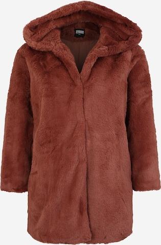Urban Classics Curvy Płaszcz zimowy w kolorze brązowy