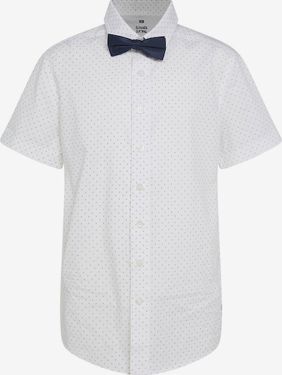 WE Fashion Kurzarmhemd BAXTER + Krawatte in weiß, Produktansicht
