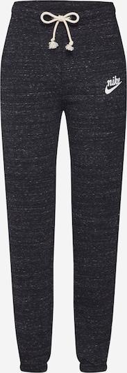 Nike Sportswear Pantalon 'W NSW GYM VNTG PANT' en gris basalte / blanc perle, Vue avec produit