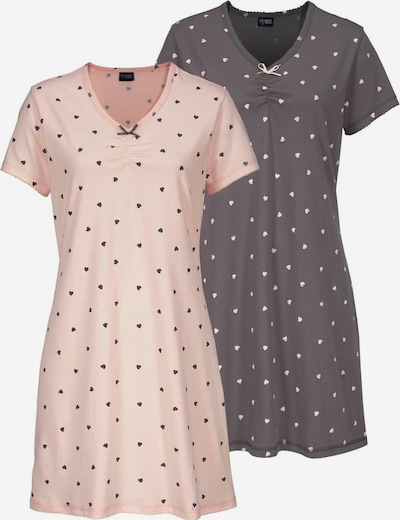 VIVANCE Nachthemden in grau / mauve, Produktansicht