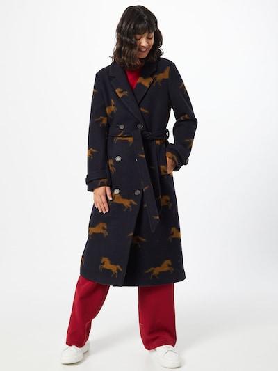 Spoom Manteau mi-saison en bleu marine / marron, Vue avec modèle