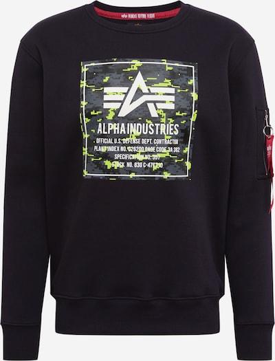 ALPHA INDUSTRIES Sweatshirt 'Camo' in schwarz, Produktansicht