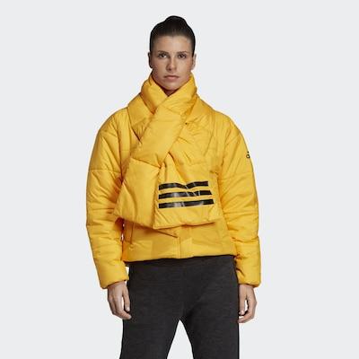 ADIDAS PERFORMANCE Jacke 'Big Baffle' in gelb / schwarz: Frontalansicht