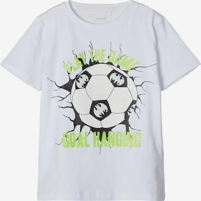 NAME IT T-Shirt in limette / schwarz / weiß, Produktansicht