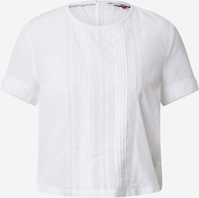 Tommy Jeans Blusentop 'TJW PINTUCK DETAIL' in weiß, Produktansicht