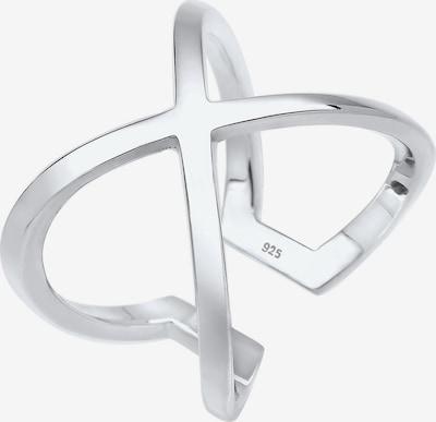 ELLI Ring 'Kreuz' in silber, Produktansicht